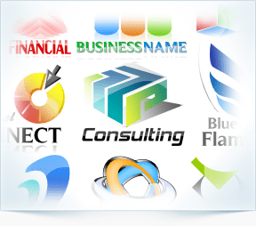 Business abstract logo templates